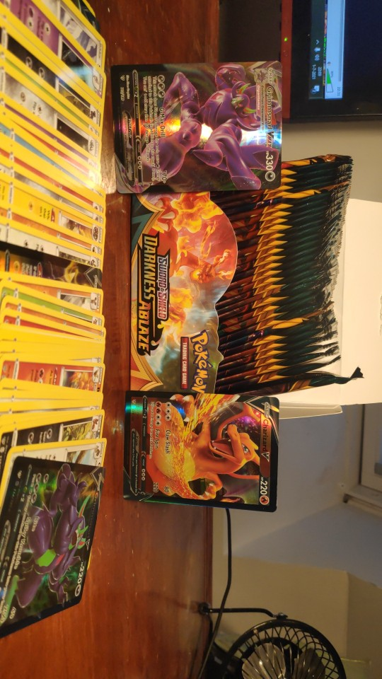 Pokemon TCG: Sword & Shield-Darkness Ablaze Booster photo review