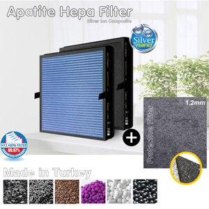 Фильтр очиститель воздуха Nikken Power5 Pro, очиститель воздуха, совместимый с Hepa Carbon, комбинированный, антимикробный, с серебристыми ионами, защит...