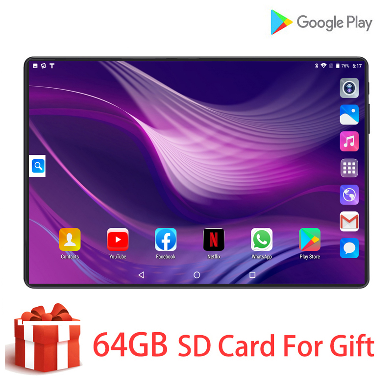 2020 New Original Mobile Phone Call Android 9.0 Tablet 10 Inch Octa Core 6GB RAM 128GB ROM 8MP Dual Camera 4G LTE Tablets 10.1