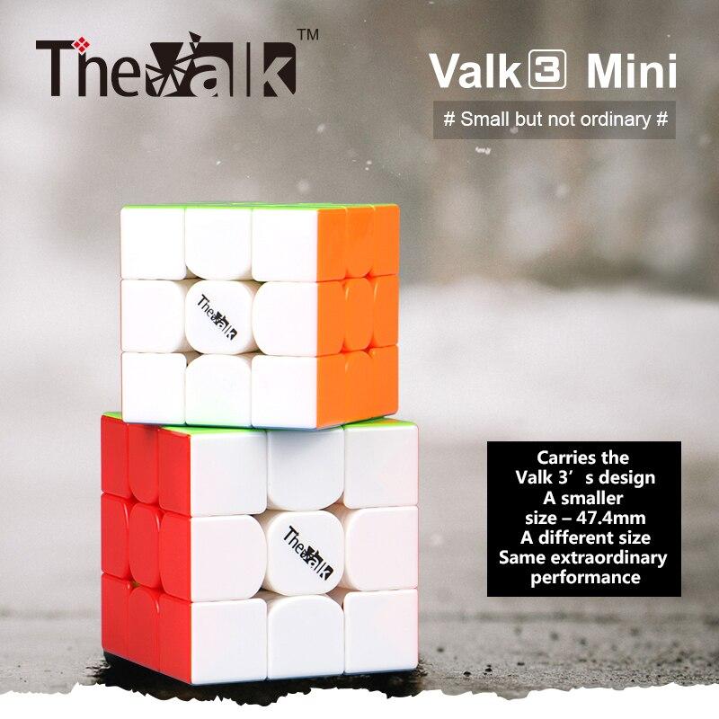 Qiyi Valk 3 Mini 3x3x3 Speed Cube The Valk3 Mini 3x3 Magic Cube Valk3Mini  3x3 Puzzle Magic Cubo Qiyi 3x3 Cube Puzzle Toy Valk3