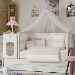 100% FAMOUS TURKISH COTTON QUALITY Made in Turkey HG1 Infant Lux Baby Crib Bedding FULL Bed Set 10 pcs bumper included