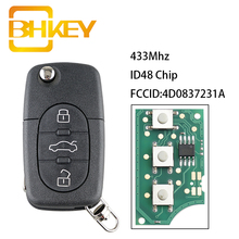 Car-Key Old-Models Remote Audi 4D0837231A 433mhz BHKEY for 1999-2002 Car-Id48-Chip A4