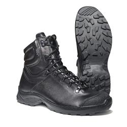 DOF demiseasion botas de cuero genuino con cordones negro del ejército botas de tobillo hombres botas militares planas 1300 \ 1WA