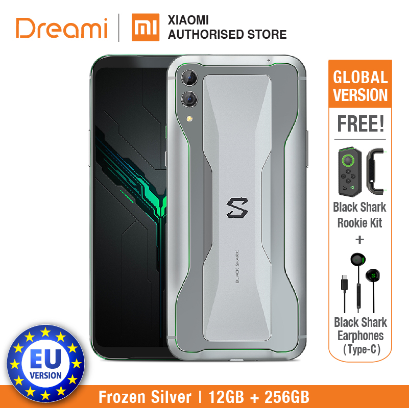 EU Version Xiaomi Black Shark 2 256GB Rom 12GB Ram Shadow Black Gaming Phone (Brand New And Sealed Box) Blackshark2256