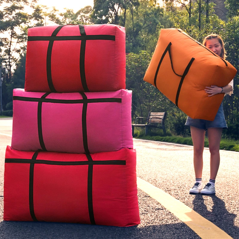 Sac de voyage toile portable femmes aller à l'étranger sac à bagages grande capacité 40L-180L grand déménagement maison sac de rangement sacs extra large