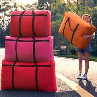 Travel bag canvas portable women go abroad baggage bag large capacity 40L-180L big move house storage bag sacks extra large