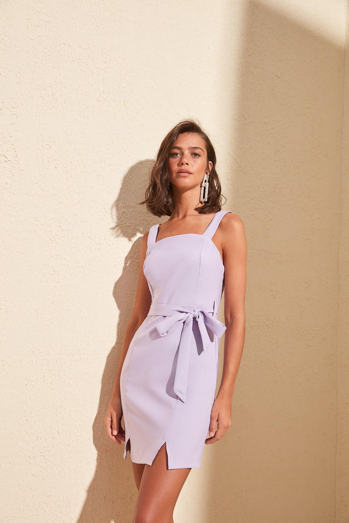 Trendyol Belted Slash Detail Dress TWOSS20EL0977