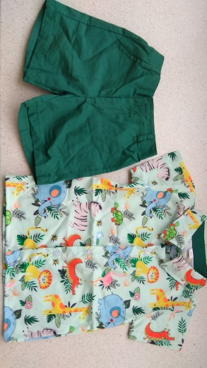 New Floral Baby Kid Boy Summer Gentleman Outfits Suit 2pcs Short Sleeve Shirt Tops Shorts Outfits Set Kids Clothes 18M-5T photo review