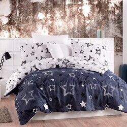 Señora Moda estrella de lujo ropa de cama de algodón conjunto Ranforce juego de cama doble/completo/Queen/King Size 3/4/5 Uds juego de sábanas de edredón
