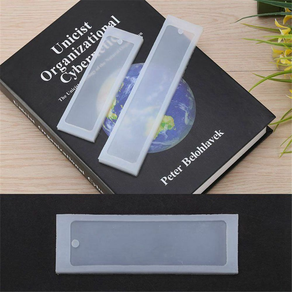 1Pcs Rectangle Silicone Bookmark Mold DIY Mould Making Epoxy Resin Jewelry DIY Bookmark Markers As Gift