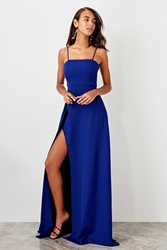 Trendyol Slash Low-Cut Evening Dress TPRSS19FZ0511