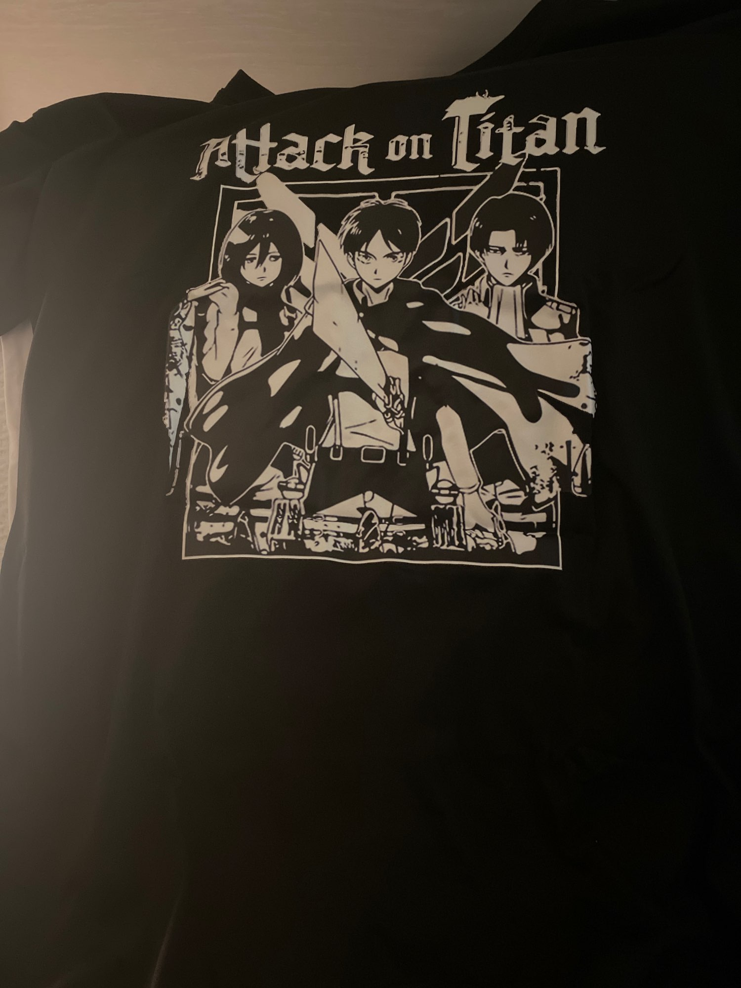 Attack on Titan AOT T-Shirt Men women T Shirt Anime Ackerman Levi Clothes Anime Tops Tees photo review