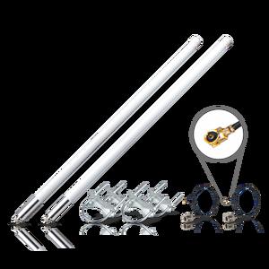 Image 2 - حزمة هوائي من الألياف الزجاجية 5.8dBi, هوائي لlora®+ قاعدة مغناطيسية هوائي