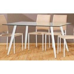โต๊ะอาหารขาสีขาวหรือสีดำ