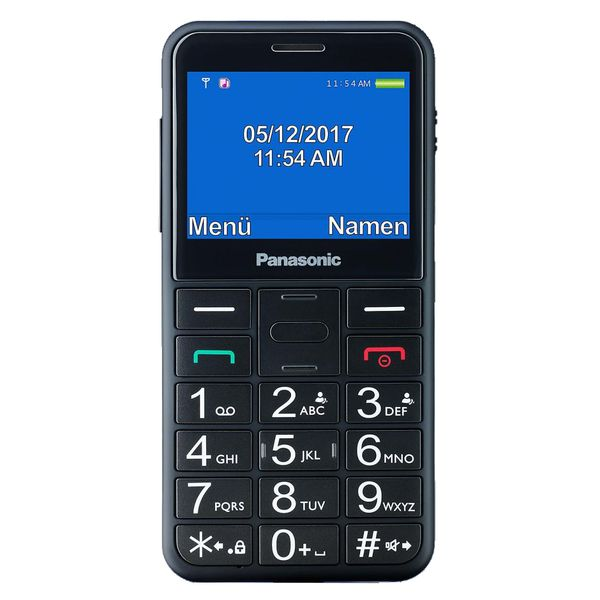 Mobile Telephone For Older Adults Panasonic KX-TU150 TFT LCD Dual SIM Black