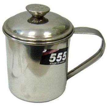 Mug 555 Stainless Steel 9 Cm (with Lid)