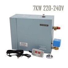 Самоходный 1 фазный 220-240 в 7 кВт парогенератор для паровой ванной комнаты машины