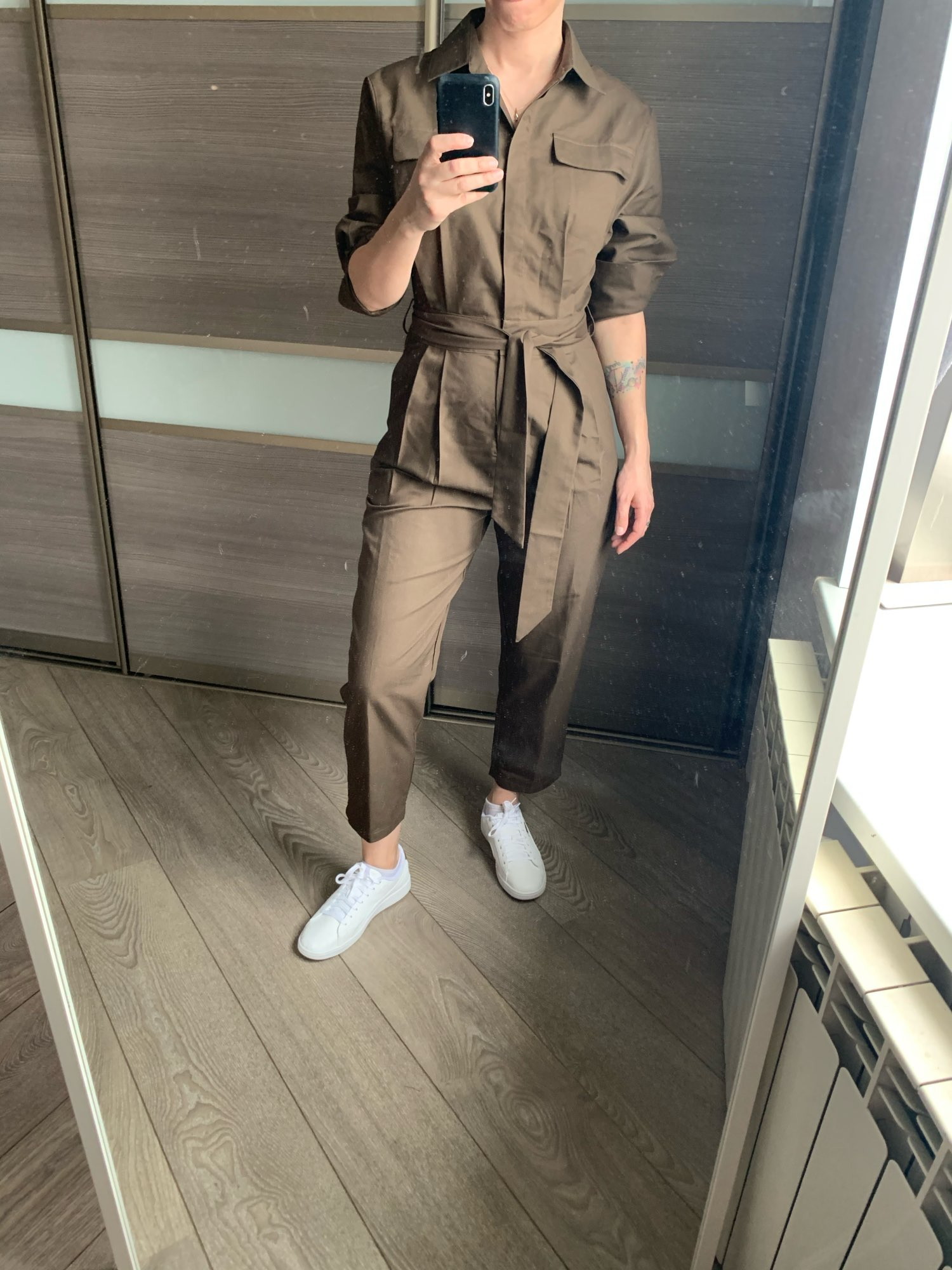 Russian Women High Street Quality Jumpsuits Brown Color Spring Fall Fitness Ankle length Handsome Slim Jumpsuits with Slash      - AliExpress