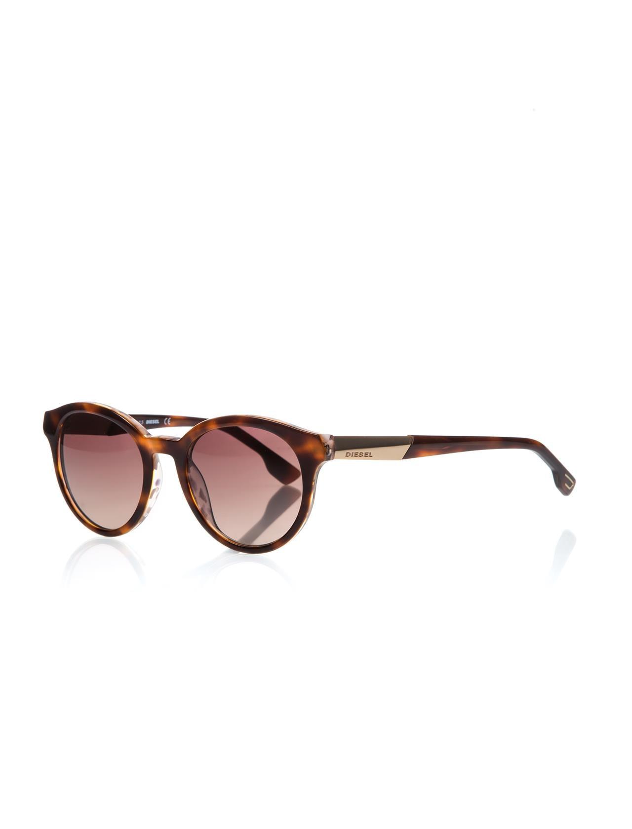 Unisex sunglasses dl 0186 56f bone Brown organic oval aval 51-20-145 diesel