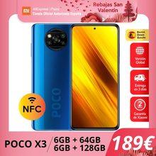 POCO X3 (128 go de ROM avec 6 go de RAM, Qualcomm®Snapdragon™732G, Android, Nuevo) [Teléfono Móvil Versión Global]