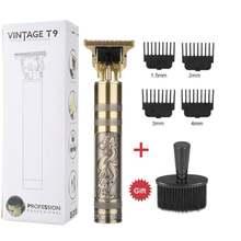 Tondeuse à cheveux T9 pour hommes, rasoir électrique sans fil, 0MM, pour barbier
