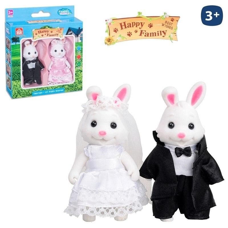 Rabbit Boyfriends Flocking Happy Family 2/Sut.8cm.
