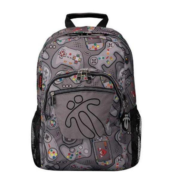 School Bag Game Totto Acuareles Grey (44 X 35 X 14 Cm)