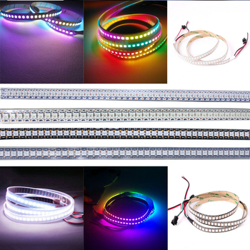 1m/2m WS2812B Led Strip 144 pixels/leds/m WS2812 WS2812B Smart RGB Led Light Strip Black/White PCB IP30/67 Waterproof DC5V 10 x 1m 144 leds m 5050 rgb ws2812b chip black pcb ws2811 ic digital 5v led strip light
