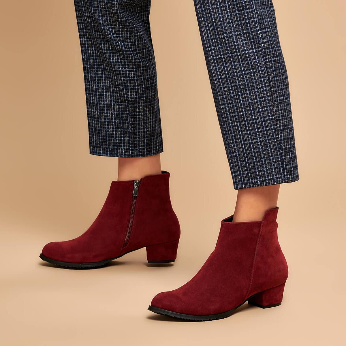 FLO GÜZAY31Z SKIN Maroon Women 'S Boots BUTIGO