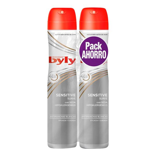 Spray Deodorant Sensitive Suave Byly (2 Uds)