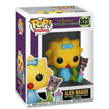 Alien Maggie FUNKO POP The Simpsons, original, decorative figures, action figure, treehouse of horror, toys 1