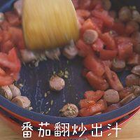 香肠番茄炖饭的做法图解4
