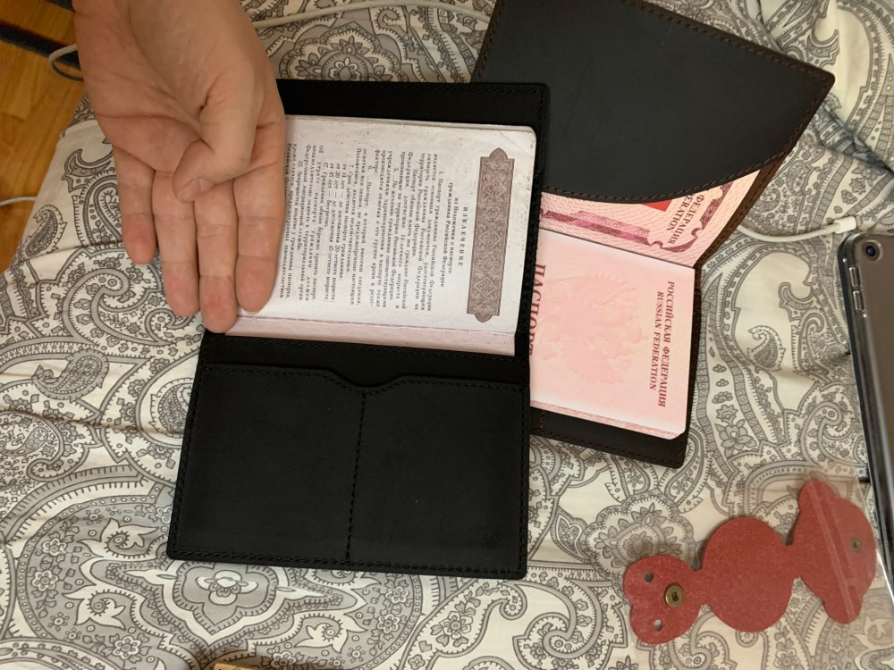 Porta documento e cartões Cavalo Passaporte Carteira