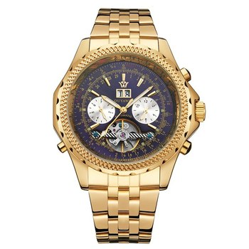 Nowi mężczyźni automatyczne zegarki mechaniczne szkielet zegar męski biznes przyczynowe zegarki tanie i dobre opinie 5Bar Moda casual Samoczynny naciąg Mechaniczne zegarki na rękę