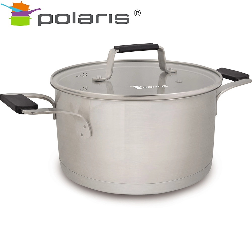 Pan Verona-20C Kitchen Pans Stainless steel pots Steel cookware Pan with lid все цены