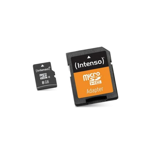 Micro SD Memory Card with Adaptor INTENSO 3413460 8 GB Class 10|Memory Cards| |  - title=