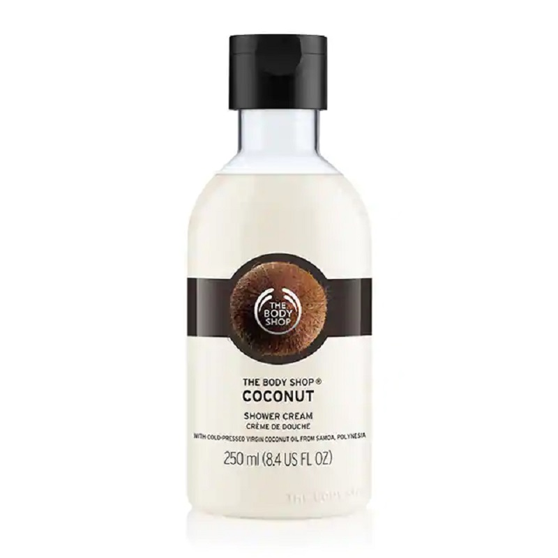 The Body Shop Coconut Shower Gel Cream Body Washer 250 Ml Moisturizing Nourishing Dry Skin Fresh Smell Soap Free Bath
