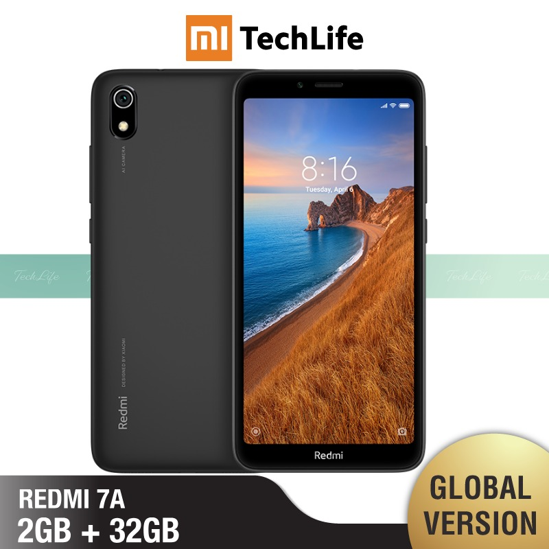 Global Version Redmi 7A 32GB ROM 2GB RAM (Brand New / Sealed) Redmi 7a, Redmi7a Smartphone Mobile