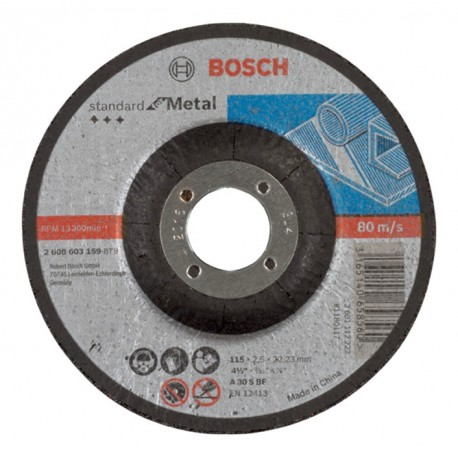 METAL CUTTING DISC CONCAVE 115X2, 5X22, 23MM STANDARD BOSCH