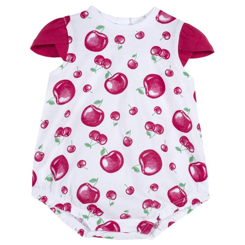 Фото - Bodysuit Chicco, size 074, color Cherry (white) shoes velcro genuine leather chicco size 200 color white
