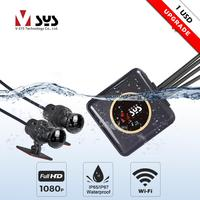 SYS VSYS Full Body Waterproof Motorcycle Camera Recorder P6FL WiFi Dual 1080P Full HD Motorcycle DVR Dash Cam Black GPS Box