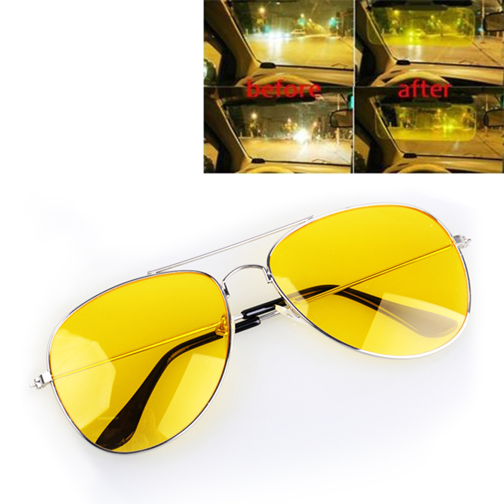 Night Driving Glasses HD Vision Yellow Lens Polarized Anti Glare Fashion Sunglasses Men  Women