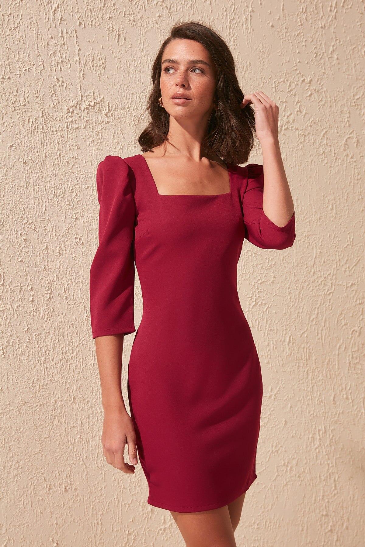 Trendyol Square Collar Dress TWOSS20EL0401
