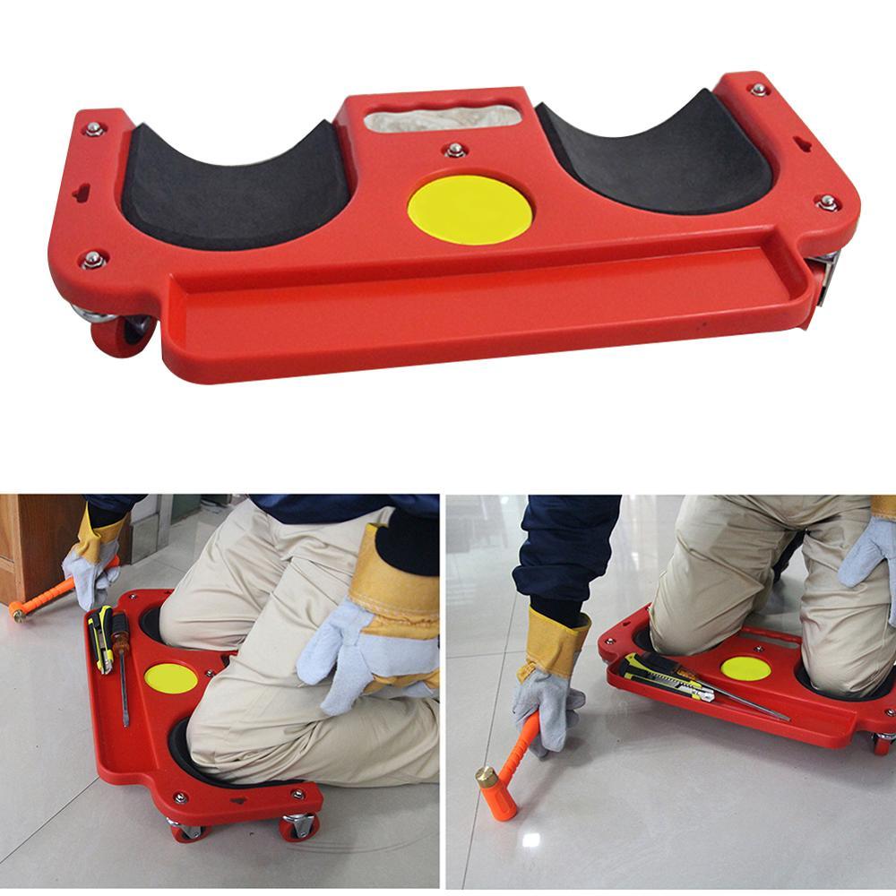 Universal Rolling Knee Protection Pad With Wheel Built In Foam Padded Laying Platform Wheel Kneeling Pad Multi-functional Tool