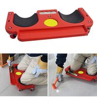 Universal Rolling Knee Protection Pad with Wheel Built in Foam Padded Laying Platform Wheel Kneeling Pad Multi functional Tool