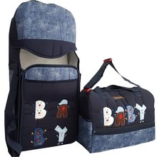 Baby Carrying Set with 2 Packs Bag + Baby Carrier Breathable Front Facing Infant Comfortable Sling Backpack Mummy Maternity