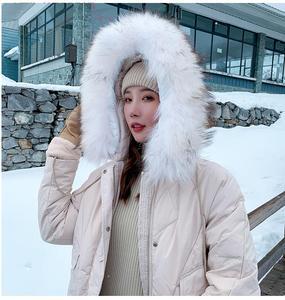 Image 4 - Abrigo de invierno ins super fire, ropa de invierno, novedad de 2019, chaqueta acolchada de algodón con cuello de pelo grande, estilo largo, versátil
