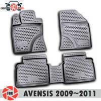Tappetini per Toyota Avensis 2009-2011 tappeti antiscivolo poliuretano sporco di protezione interni car styling accessori