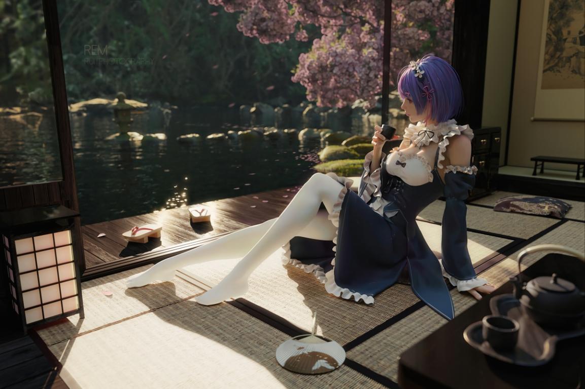 女孩坐在凉席上4k动漫壁纸