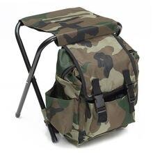 Складной стул вместительный рюкзак для рыбалки путешествий пешего